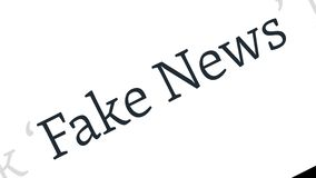 Поддельная концепция новостей Поддельные новости в содержании и названиях различных мест средств массовой информации