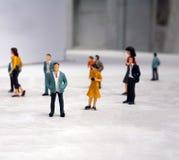 поддельная миниатюрная пластмасса людей Стоковая Фотография RF