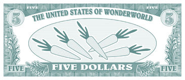 поддельные деньги Стоковое Изображение