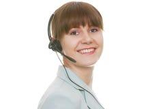 поддержка привлекательного клиента репрезентивная Стоковые Изображения RF