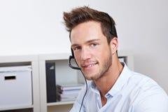 поддержка телефона агента полезная Стоковые Фото