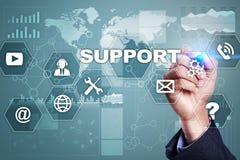 поддержка техническая Помощь клиента Концепция дела и технологии стоковое фото