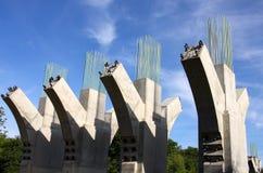поддержки бетона моста Стоковая Фотография