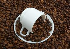 поддонник вороха s кофейной чашки фасоли Стоковая Фотография RF