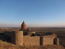 Подземелье Khor Virap глубокое - старый армянский монастырь стоковые изображения rf