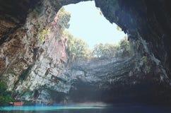 Подземелье Melissani Стоковое Изображение RF