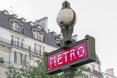 подземка знака paris метро Стоковая Фотография RF