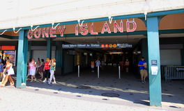 подземка острова coney стоковые изображения rf