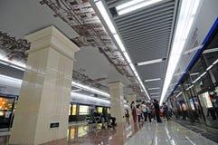 подземка станции корридора chengdu Стоковое Фото