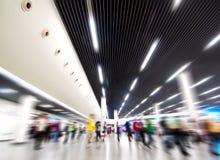 подземка станции толпы Стоковое Изображение RF