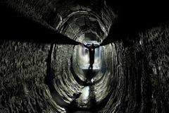 Подземная система под городом стоковая фотография rf