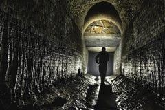 Подземная система под городом стоковое фото rf