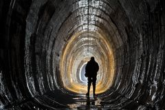 Подземная система под городом стоковые фотографии rf