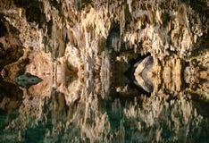 Подземные пещеры Cenotes Labnaha, Майя Ривьера, Мексика стоковое фото rf