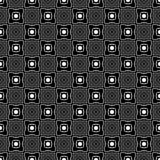 Подкладка черно-белой безшовной картины геометрическая Предпосылка, квадраты стоковая фотография rf