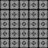Подкладка черно-белой безшовной картины геометрическая стоковое фото