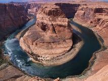 подкова каньона Аризоны Стоковые Изображения RF