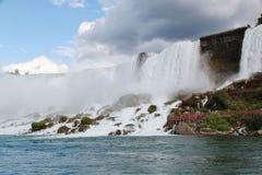 Подкова падения Ниагары ontario Канада водопад предпосылки красивейший Стоковые Фотографии RF