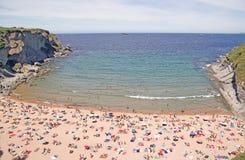 подкова пляжа Стоковые Фотографии RF