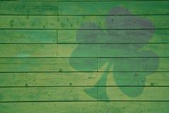 подкрашиванный зеленый цвет клевера Стоковые Фотографии RF