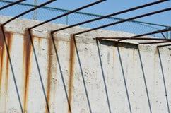 Подкрепление и бетон конструкции Стоковое Изображение
