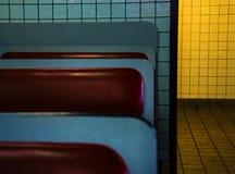 Подлинная винтажная сцена обедающего стоковое фото rf