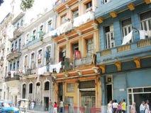 Подлинная ситуация улицы в Ла Гаване Образ жизни Кубы городской Стоковые Изображения