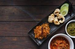 Подлинная Тайская кухня, Тайская кухня традиции северная стоковая фотография