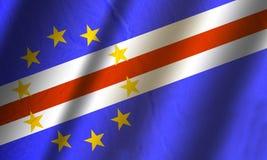 Подлинный красочный флаг Кабо-Верде Стоковые Фото