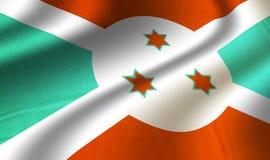 Подлинный красочный флаг faso Бурунди иллюстрация штока