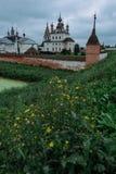 Подлинный старый русский городок Yuryev-Polsky Стоковые Изображения