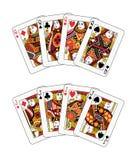 поднимает ферзи домкратом покера Стоковая Фотография RF