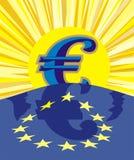 поднимать дег евро Стоковое Изображение RF