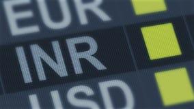 Поднимать индийской рупии, понижаясь Валютный рынок мира Тариф валюты изменяя бесплатная иллюстрация