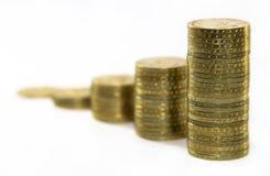 поднимать монеток стоковые изображения
