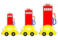 поднимать цен иллюстрации газа Стоковое Изображение