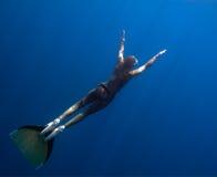 поднимать freediver Стоковые Изображения