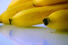 поднимающее вверх банана близкое Стоковые Фотографии RF