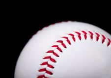 поднимающее вверх бейсбола близкое Стоковая Фотография