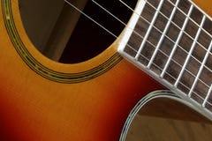 Поднимающее вверх гитары близкое стоковое фото