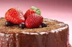 поднимающее вверх конца шоколада торта домодельное Стоковое Фото