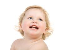 поднимающее вверх младенца близкое счастливое Стоковое Изображение