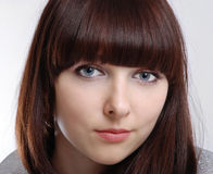 поднимающее вверх портрета близкой девушки подростковое Стоковые Фото