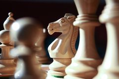 поднимающее вверх chesspiece близкое Стоковые Изображения RF
