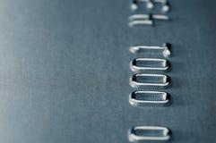 поднимающее вверх dof близкого кредита карточки отмелое Стоковые Фото