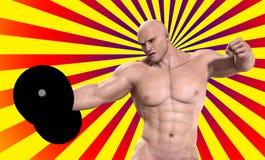 поднимаясь вес человека сильный Стоковые Фотографии RF