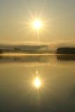 поднимая солнце Стоковое Изображение RF