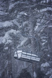 поднимите зиму лыжи места Стоковые Фото