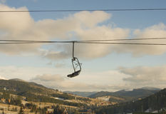 поднимите катание на лыжах Стоковые Изображения RF
