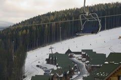 поднимите катание на лыжах Стоковые Изображения